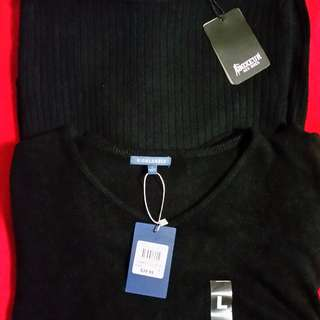 📮 Brand Name Men's Black Knit Jumpers - Size L - New