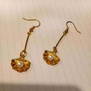 維納斯的誕生 貝殼珍珠耳環