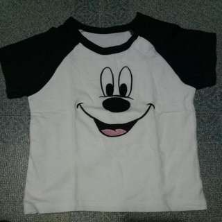 Uniqlo Baby Mickey Mouse Shirt