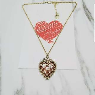Betsy Johnson vintage heart necklace in golden
