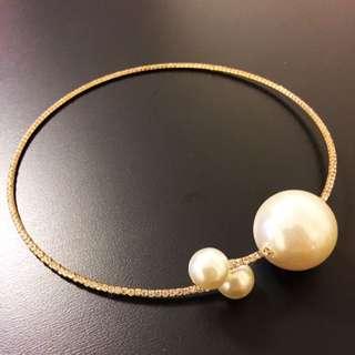 Dior Style Imitation Pearl Choker necklace 頸圈 頸鍊