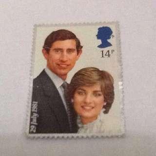 Stamp Charles & Lady Di