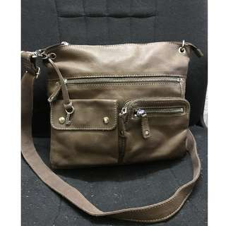 Fossil Leather hip bag