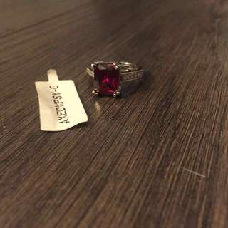 White Gold Ruby Ring
