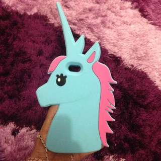 Case iPhone 5 unicorn blue