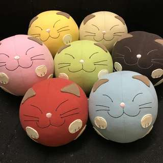 Set of 7 Hikosen Cara Cat Plushies