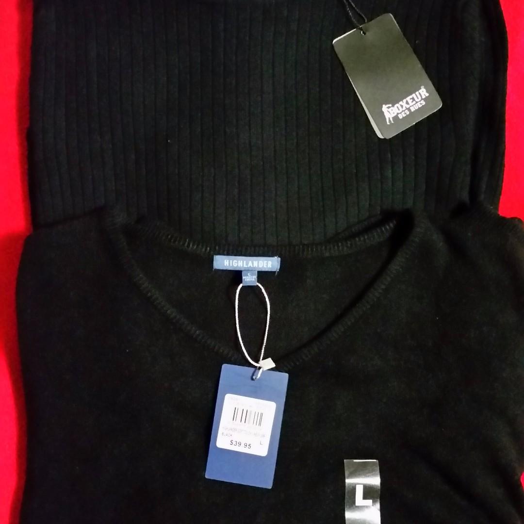 Boxeur Des Rues / Highlander  Brand Men's Black Knit Jumpers - Size L - New with Tags