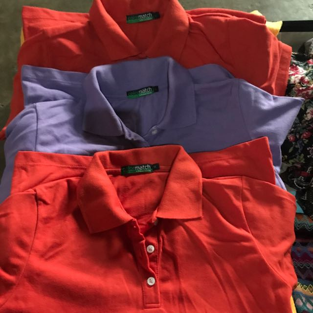3in1 bundle!!! Colormatch Polo Shirts