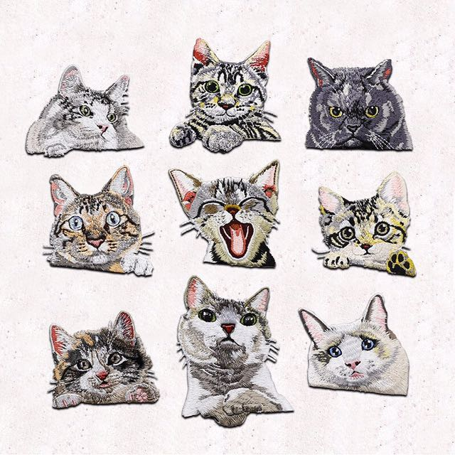 (9pcs) kitty appliqué (badge)