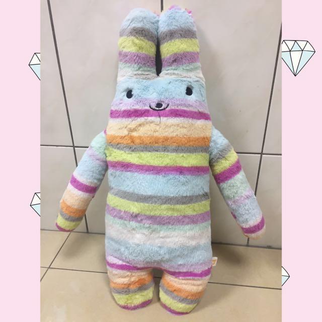 娃娃出清-正版彩色長抱兔
