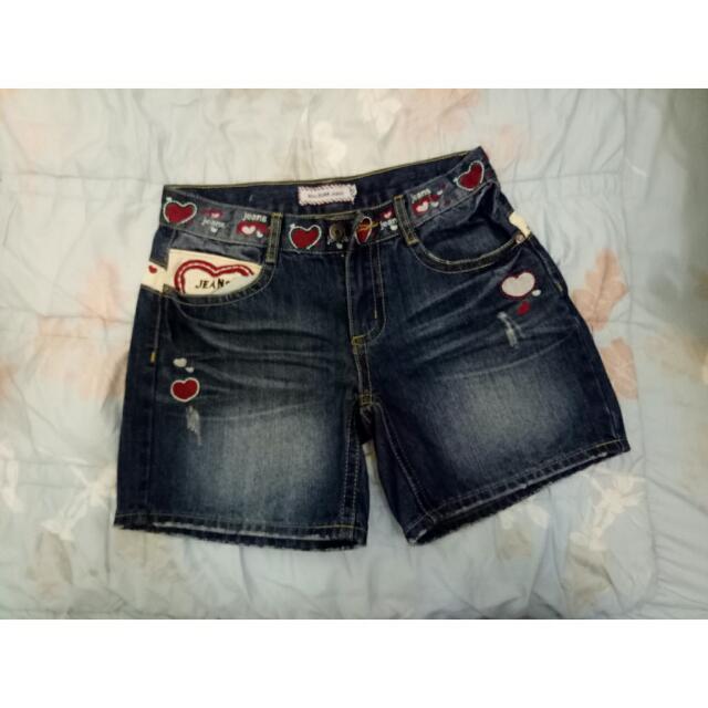 牛仔短褲♥