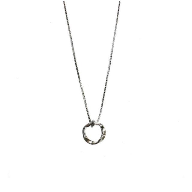 銀環鎖骨項鍊 圓圈項鍊 圓環項鍊 純銀項鍊