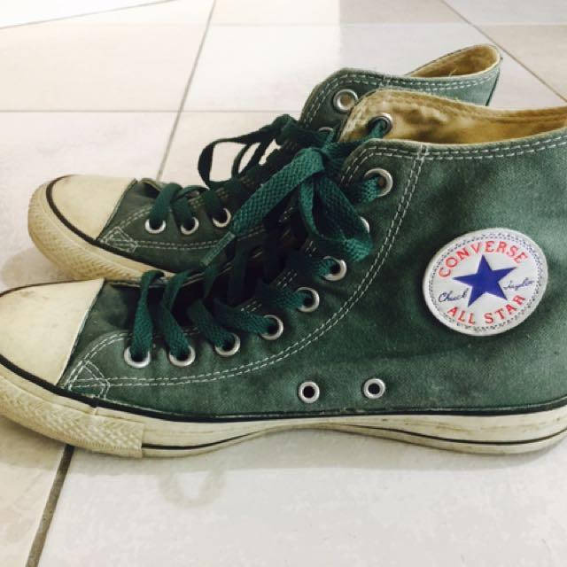 正品 converse 基本款高筒帆布鞋 25號