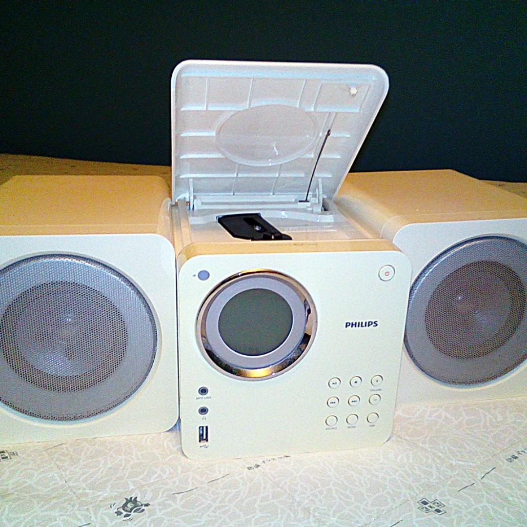 飛利浦白色立體音響 Philips Stereo