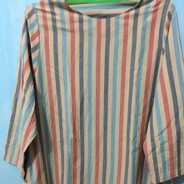 atasan stripe colorful