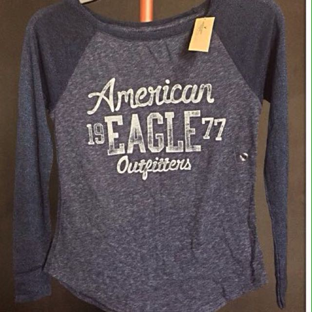 Authentic AE Outfitters Ladies Blue Long Sleeves Top