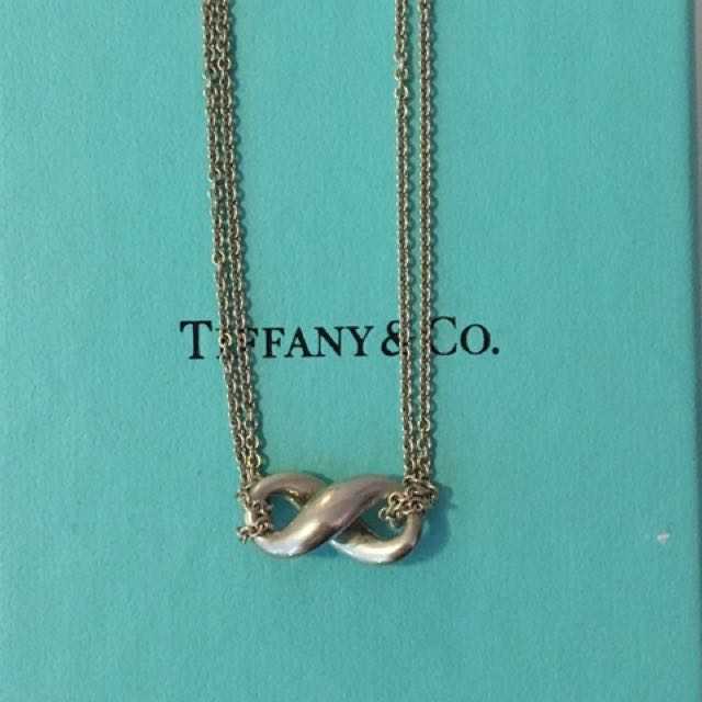 Authentic Tiffany and co infinity necklace