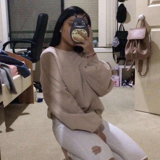 Baby pink nude Forever 21 jumper sweater