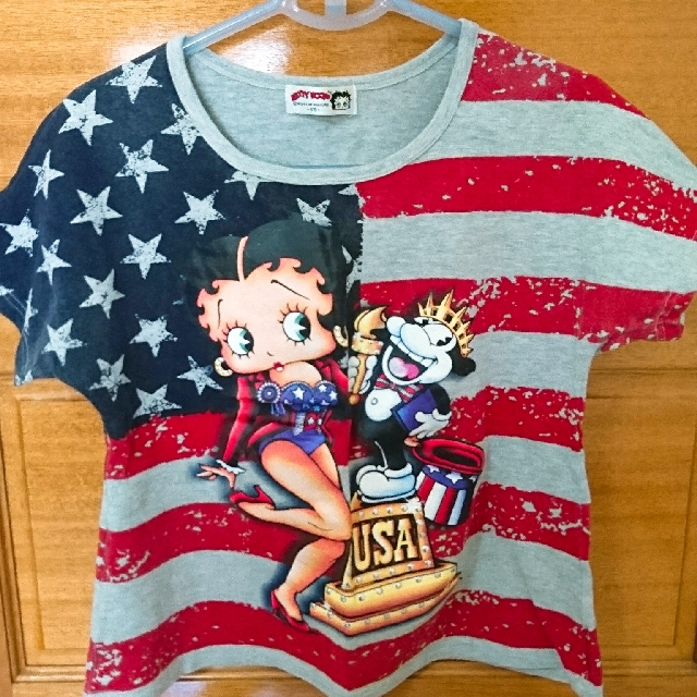 Betty Boop 美國國旗上衣