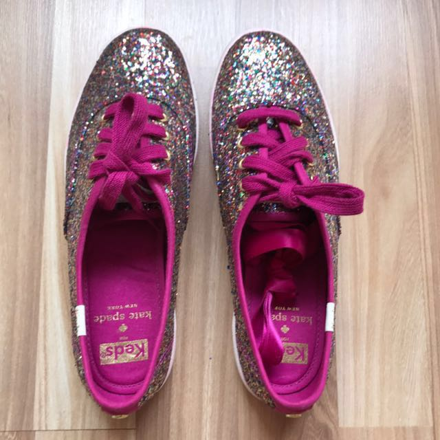 b9d82346ba3a BN Keds X Kate Spade Pink Glitter Sneakers US 6