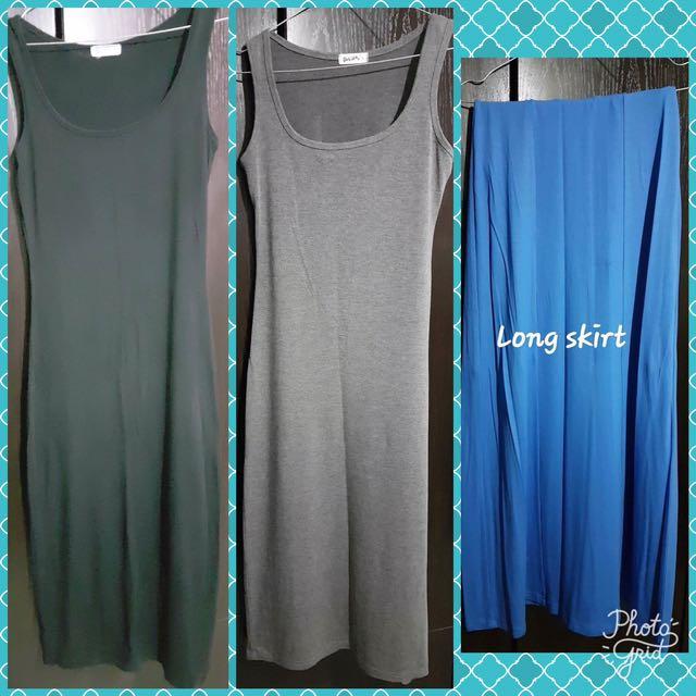 Bodycon dress and long skirt from dubai