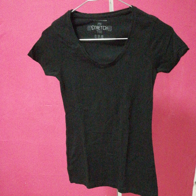d3c01726 BRAND NEW V Neck Black Top, Women's Fashion, Clothes, Tops on Carousell