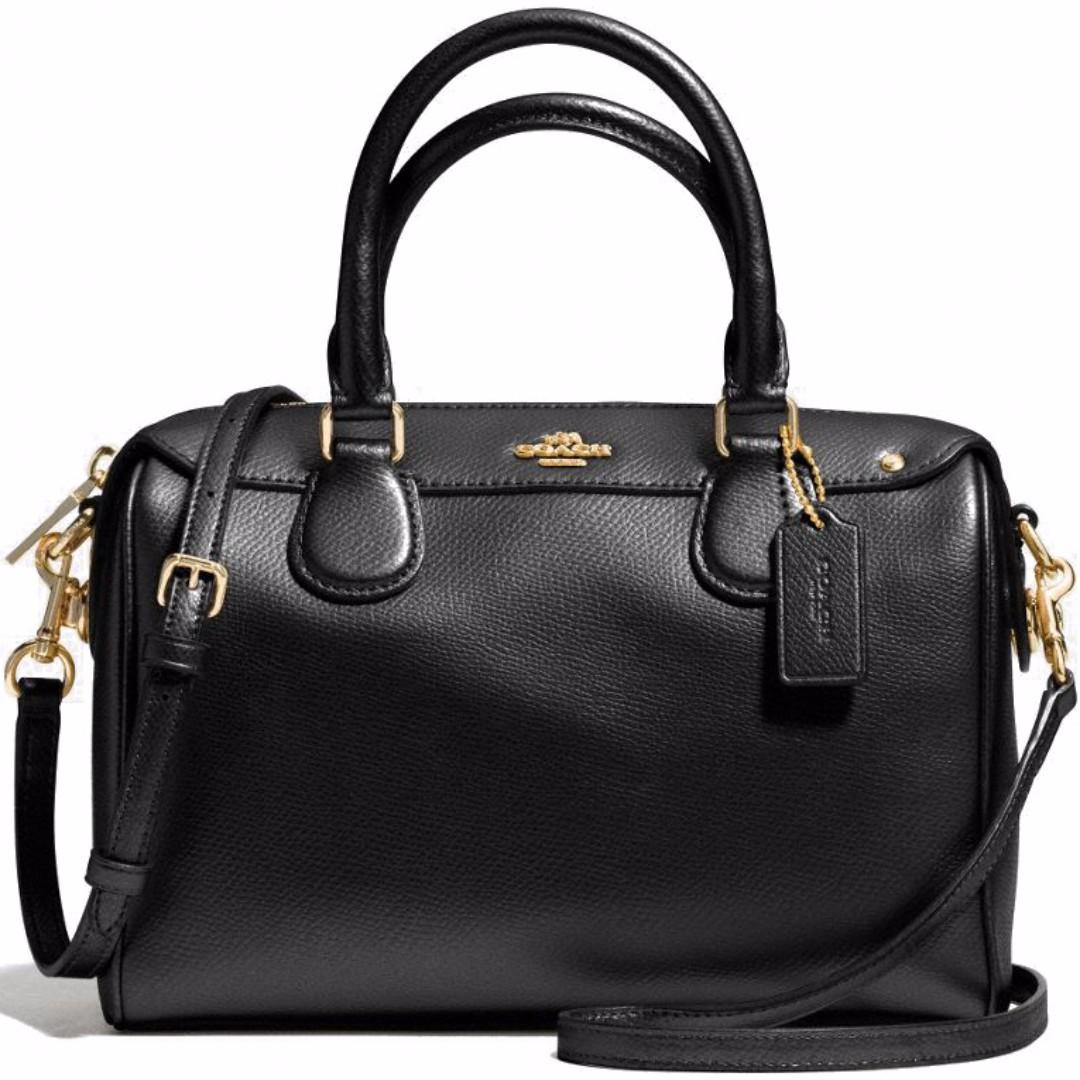 0b89a552ea 💯Coach Crossgrain Mini Bennett Satchel Crossbody Bag Black   F36624 ...