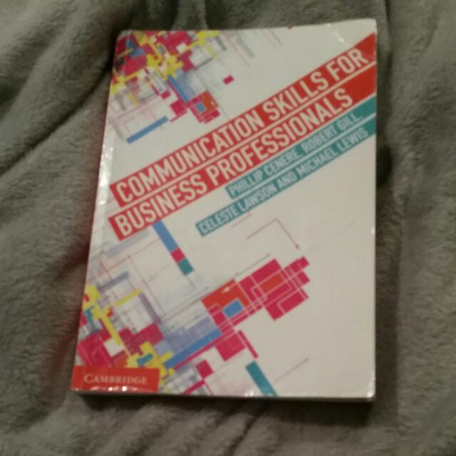 Communication skills For Business Professions Textbook