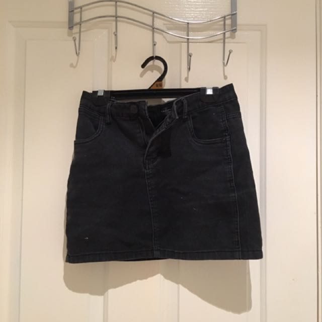 Country denim black skirt