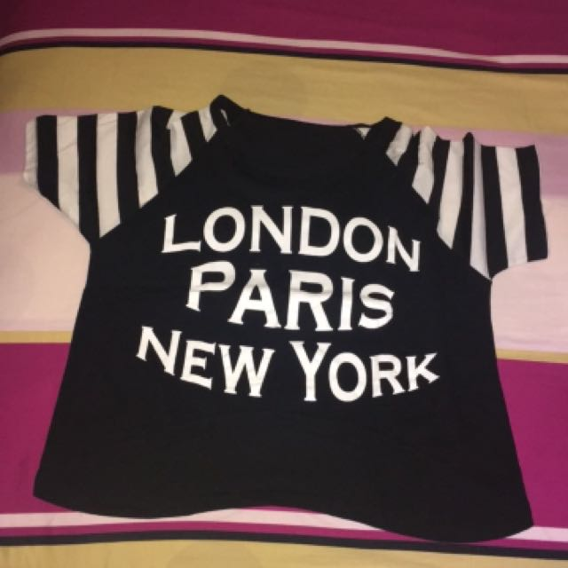 CROP TOP LONDON PARIS NEW YORK