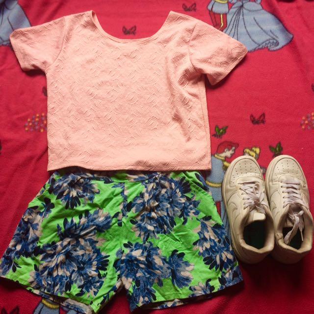 Croptop And Shorts