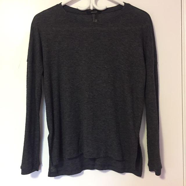 Dark gray thin long sleeve