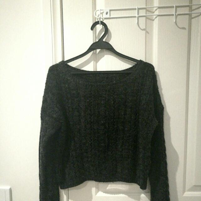 Dark Grey Wool Sweater