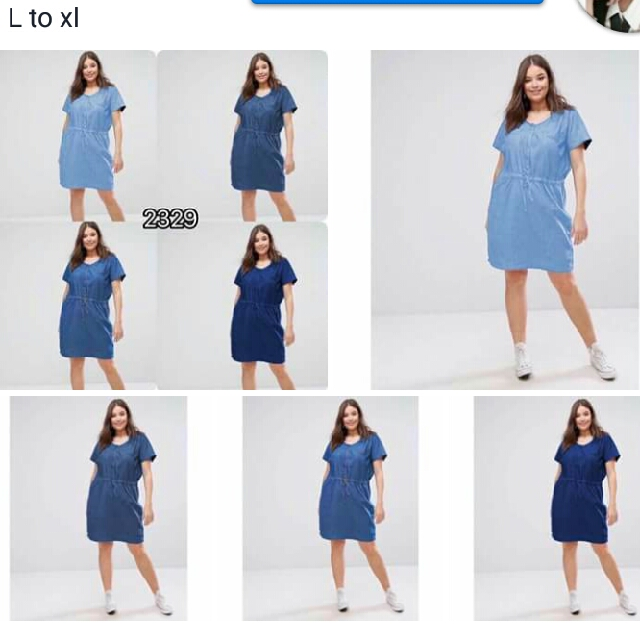 Denim Plus size Dress