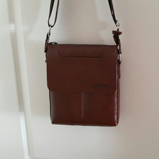 Duchini Brown (Not Genuine) Leather Crossbody Bag