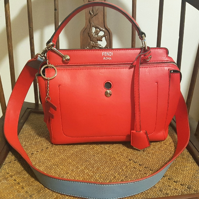 f35881aedd ⚠✓PRICE REDUCTION✓⚠ Fendi Borsa Dot Com Red Leather Handbag ...