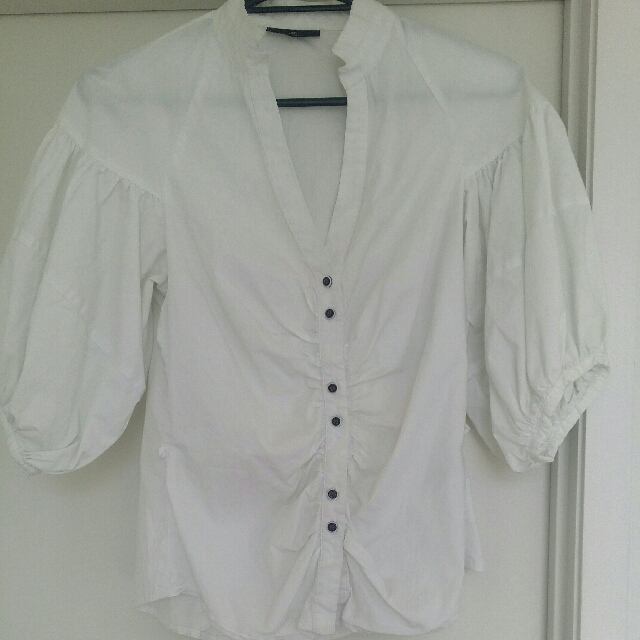 Fitted White Blouse
