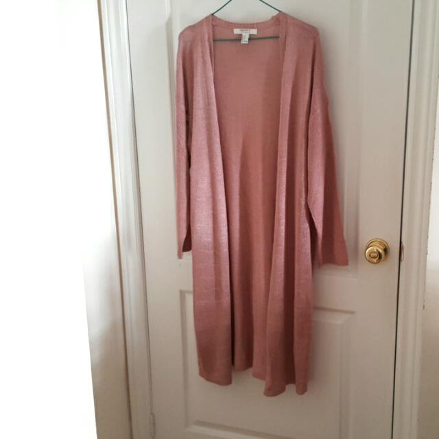 Forever21/F21 Long Pink Cardigan