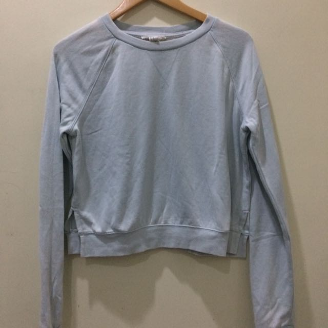 Forever 21 Blue Cropped Sweater