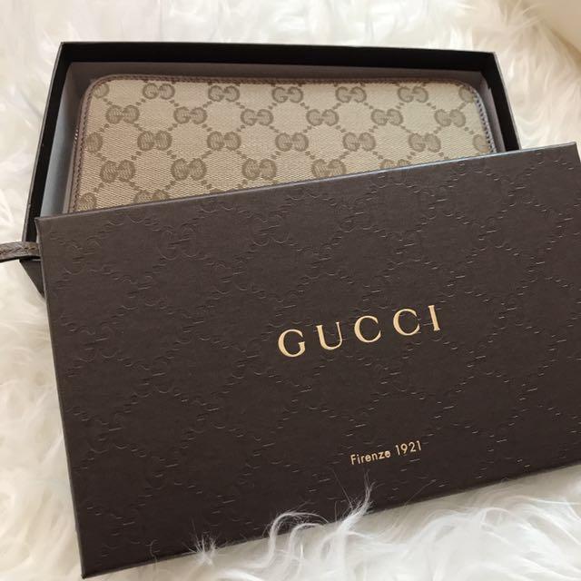 56335c982d2 GG Gucci Supreme Zip Around Wallet