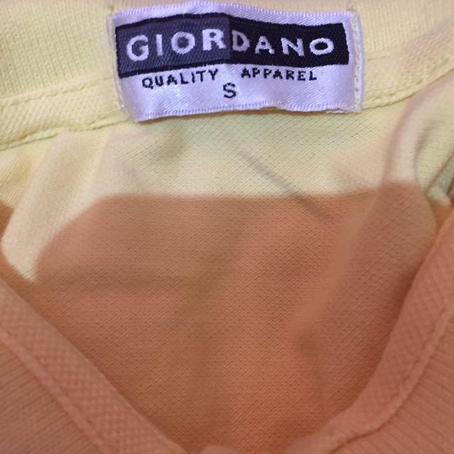 Giordano Yellow Mello Polo
