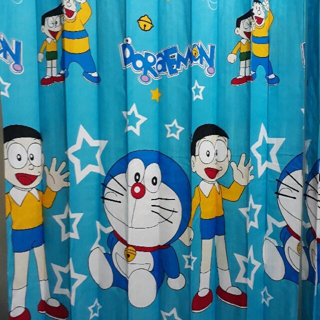 Gorden Pintu Kamar Jendela Minimalis Doraemon Premium Home