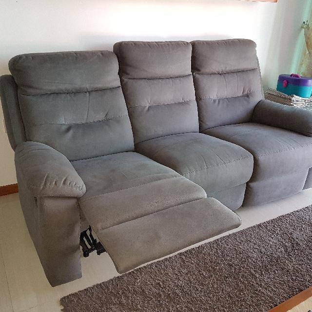 Gray Reclining Sofa Furniture Sofas