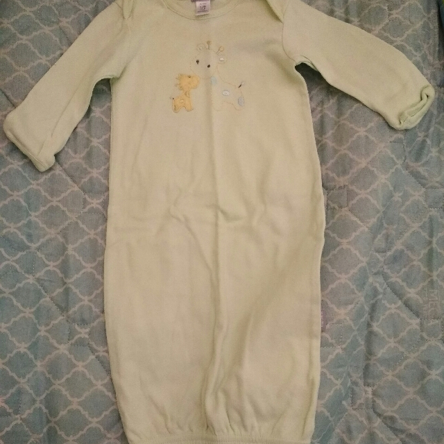 Green Carters sleepsack 0-3mos