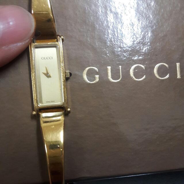 GUCCl金色錶,真品