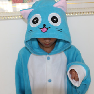 6882ef592b2a Happy from Fairy Tail onesie adult pajamas