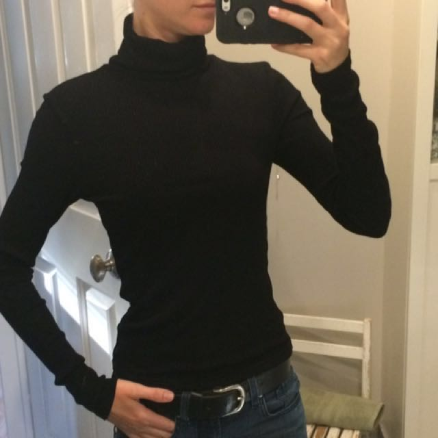 H&M black turtle neck