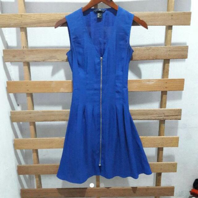 H&m Blue Zip Dress