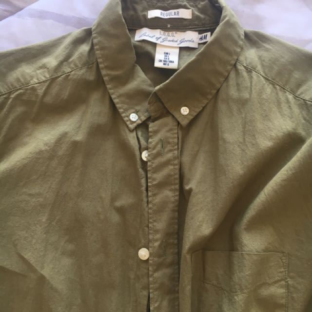 H&M men's khaki shirt