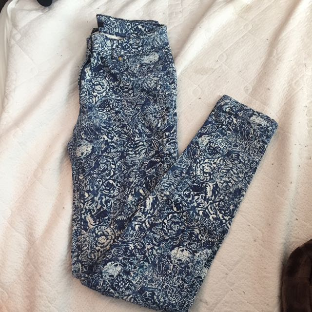H&M pants with prints size 4